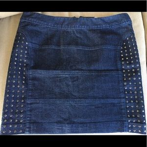 Candies denim mini skirt with stud detail